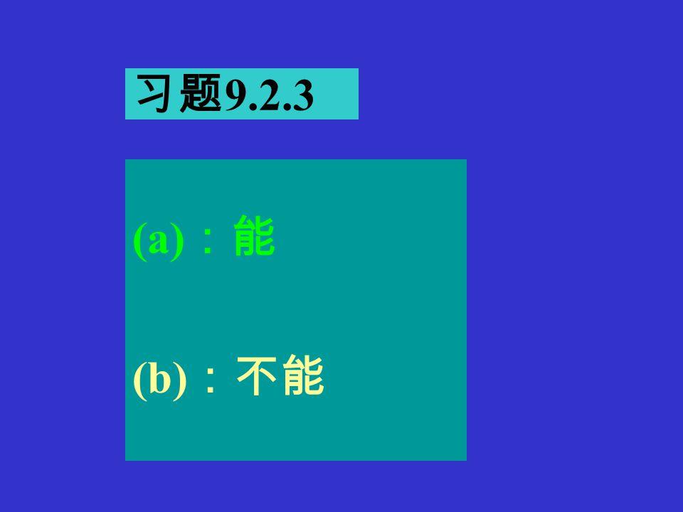 习题 9.2.2 (1) :能。 (2) : R f ≧ 2R e1, f=1/2  RC=58.5Hz (3): R e1 正温度系数, R f 负温度系数