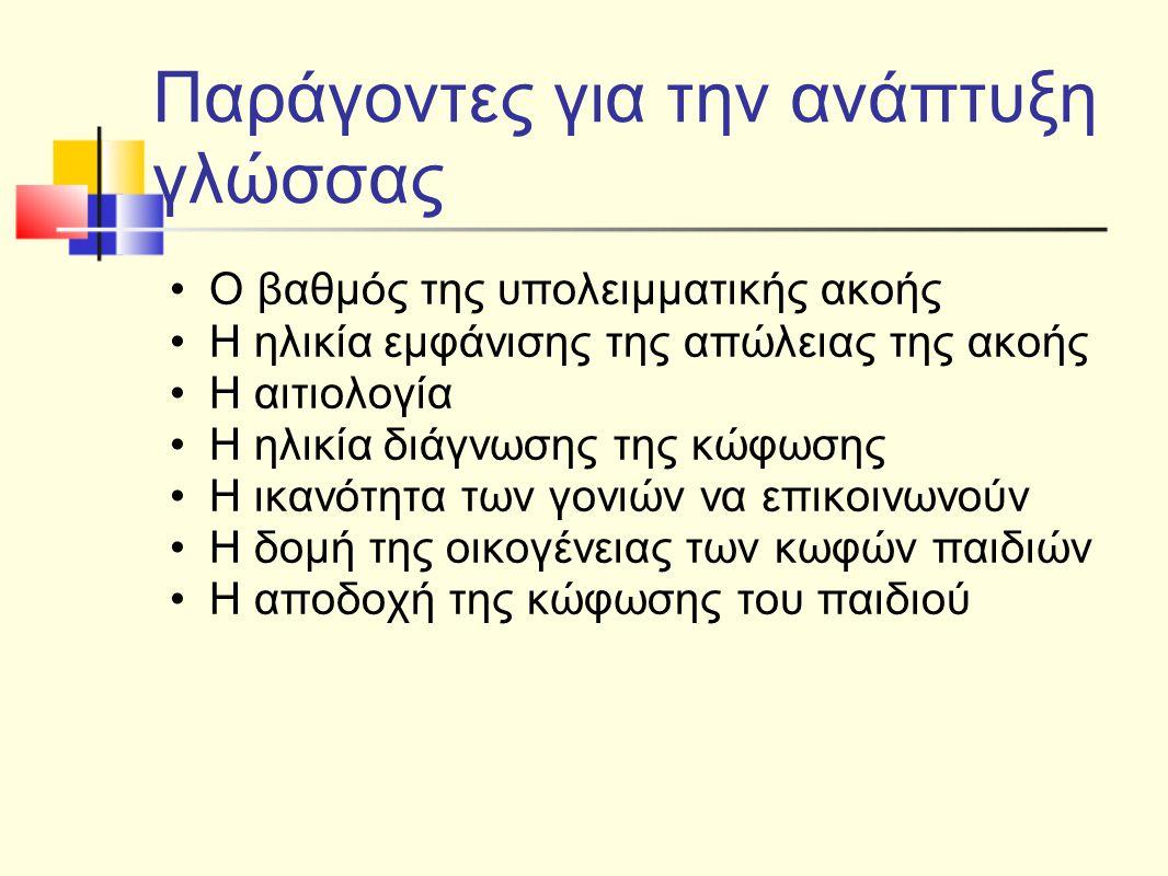 Κατάλληλο εκπαιδευτικό πλαίσιο Κοινό εκπαιδευτικό πλαίσιο τάξη ή σχολείο ειδικό εκπαιδευτικό πλαίσιο (μερικές φορές) ειδικό εκπαιδευτικό πλαίσιο (συνεχές)