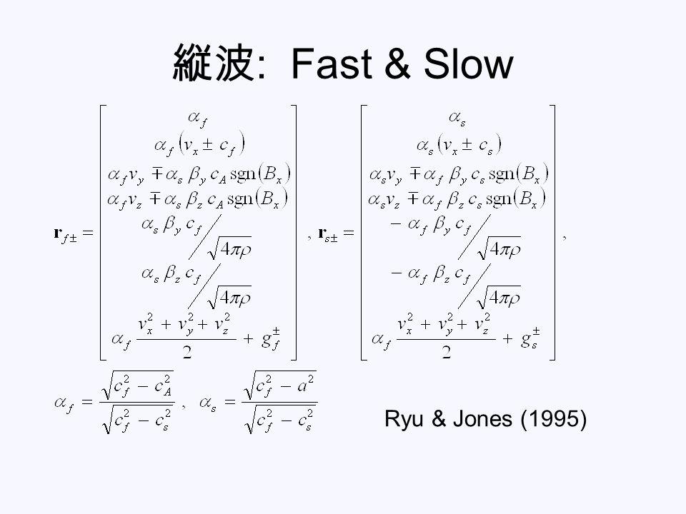 縦波 : Fast & Slow Ryu & Jones (1995)