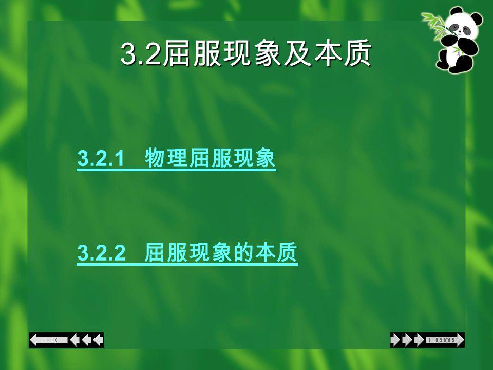 3.2 屈服现象及本质 3.2.1 物理屈服现象 3.2.2 屈服现象的本质