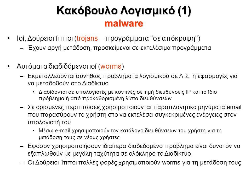 Ιοί, Δούρειοι ίπποι (trojans – προγράμματα