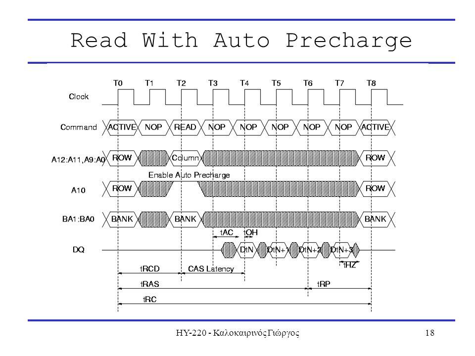 ΗΥ-220 - Καλοκαιρινός Γιώργος18 Read With Auto Precharge