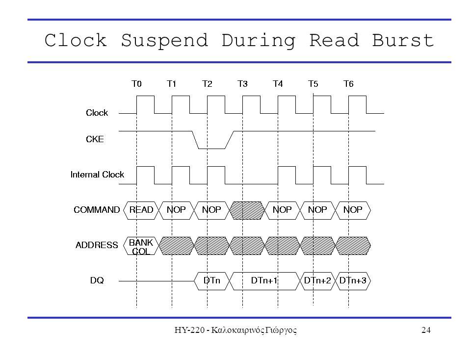 ΗΥ-220 - Καλοκαιρινός Γιώργος24 Clock Suspend During Read Burst