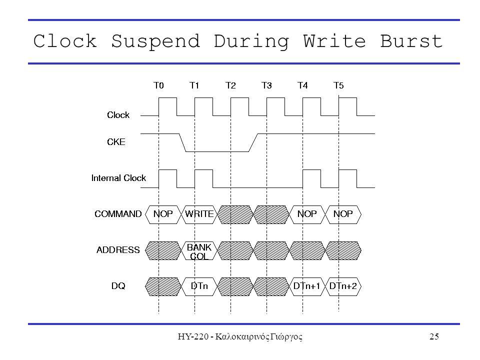 ΗΥ-220 - Καλοκαιρινός Γιώργος25 Clock Suspend During Write Burst