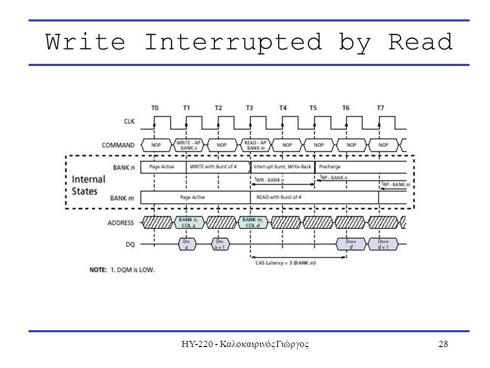 ΗΥ-220 - Καλοκαιρινός Γιώργος28 Write Interrupted by Read
