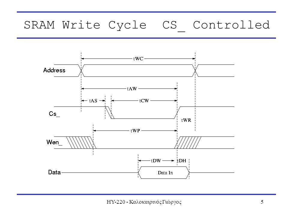 ΗΥ-220 - Καλοκαιρινός Γιώργος5 SRAM Write Cycle CS_ Controlled