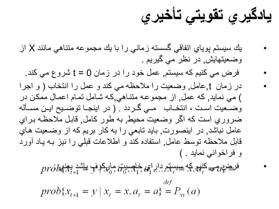 يك سيستم پوياي اتفاقي گسسته زماني را با يك مجموعه متناهي مانند X از وضعيتهايش, در نظر مي گيريم.