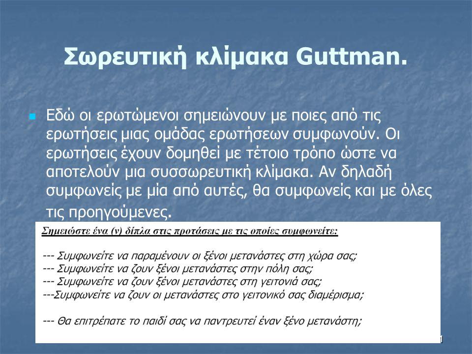 41 Σωρευτική κλίμακα Guttman.