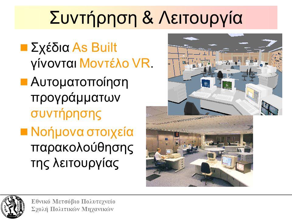 Εθνικό Μετσόβιο Πολυτεχνείο Σχολή Πολιτικών Μηχανικών Σχέδια Αs Βuilt γίνονται Μοντέλο VR.