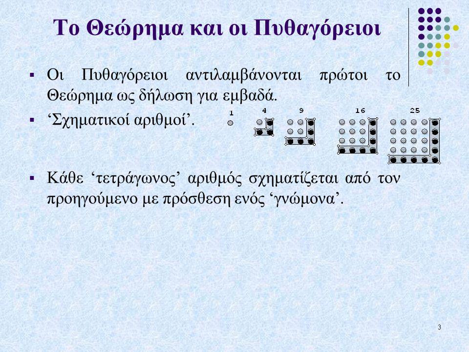14 6. Πέρασμα της βασικής Πυθαγόρειας τριάδας στο μιλιμετρέ χαρτί