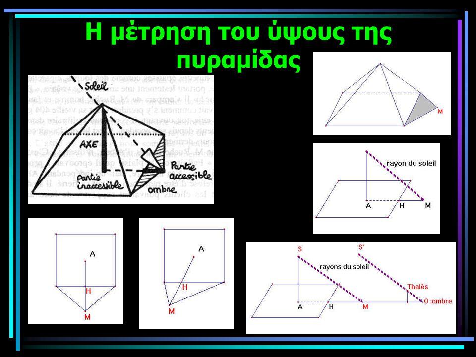 Η μέτρηση του ύψους της πυραμίδας