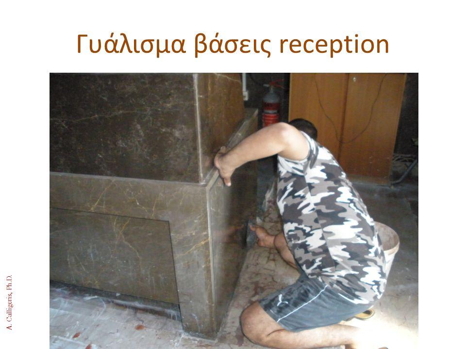 Γυάλισμα βάσεις reception A. Calligeris, Ph.D.