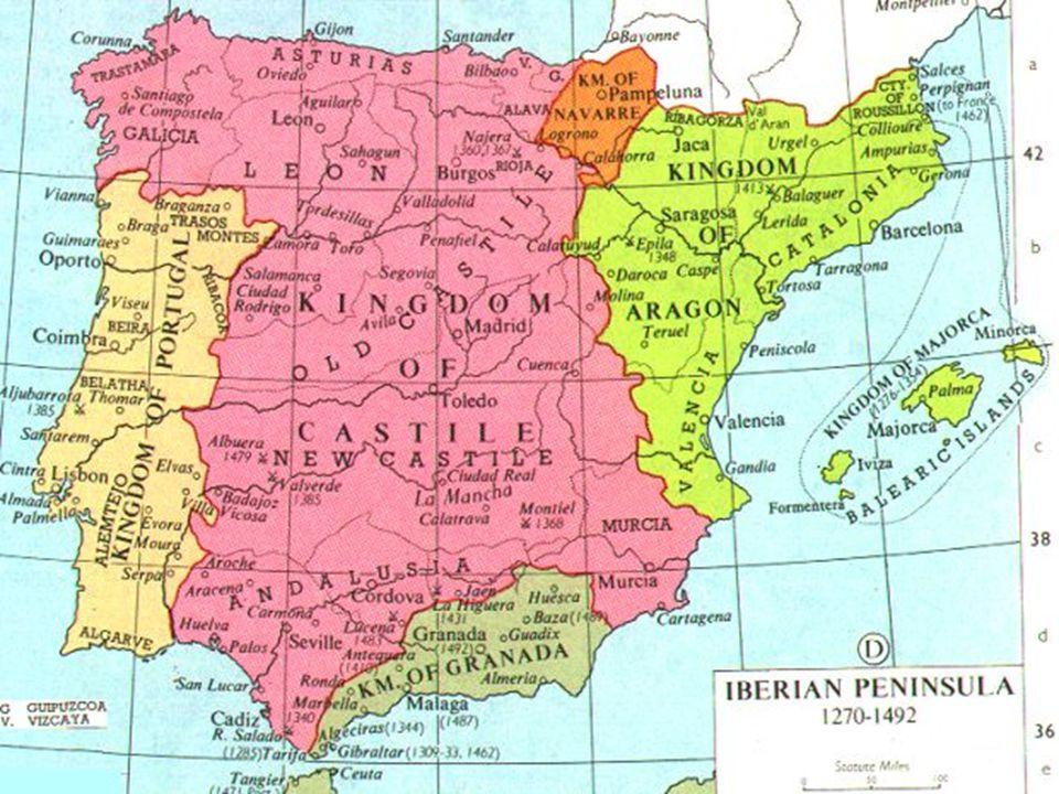 Reconquista 3 η Φάση της Reconquista : 1492 1469 Γάμος της Ισαβέλας της Καστίλης με τον Φερδινάνδο της Αραγωνίας  ένωση των δύο βασιλείων 1492 : προσ