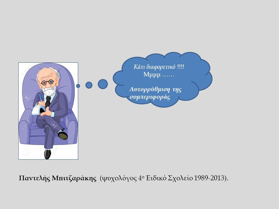 Κάτι διαφορετικό !!!! Μμμμ …… Αυτορρύθμιση της συμπεριφοράς Παντελής Μπιτζαράκης (ψυχολόγος 4 ο Ειδικό Σχολείο 1989-2013).