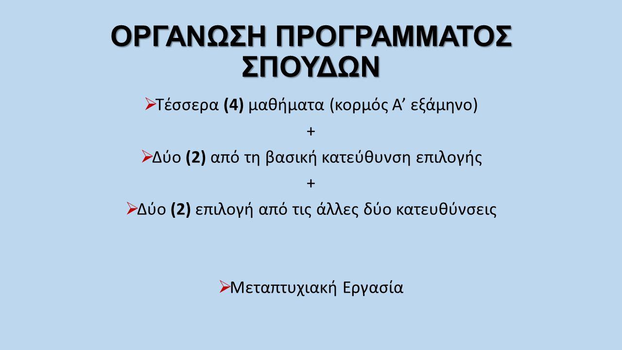 Α' ΕΞΑΜΗΝΟ