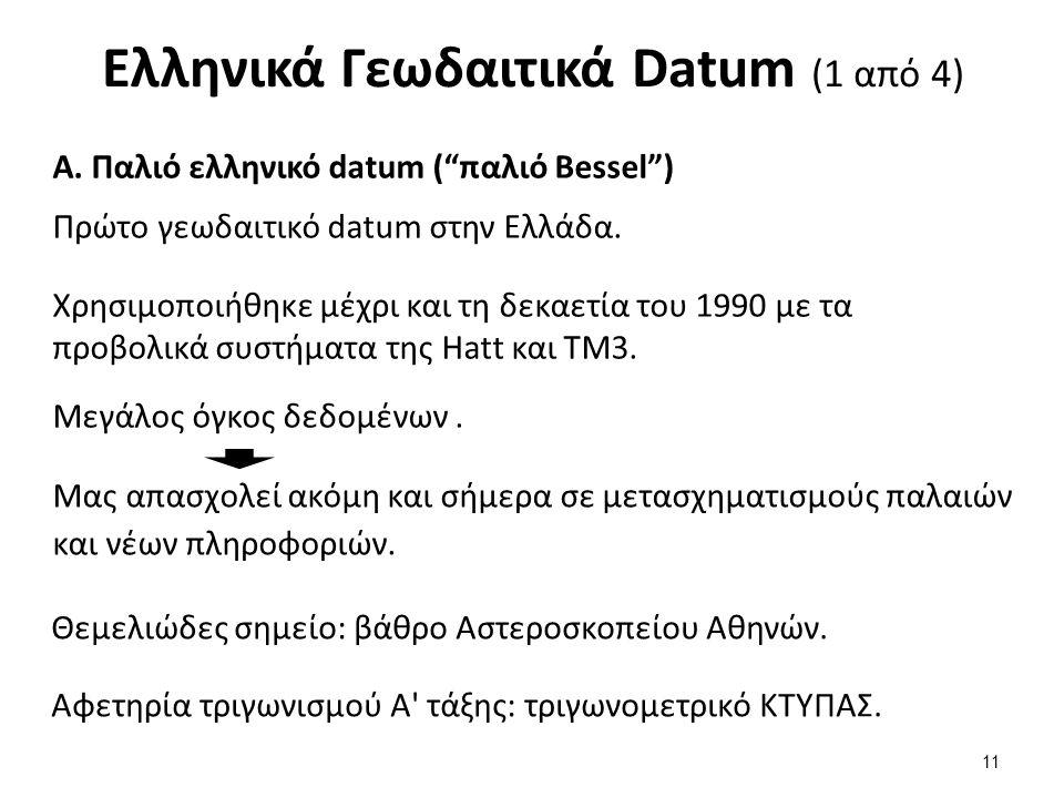 Ελληνικά Γεωδαιτικά Datum (1 από 4) Α.