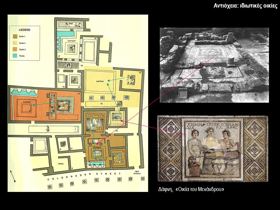 Δάφνη, «Οικία του Μενάνδρου» Αντιόχεια: ιδιωτικές οικίες