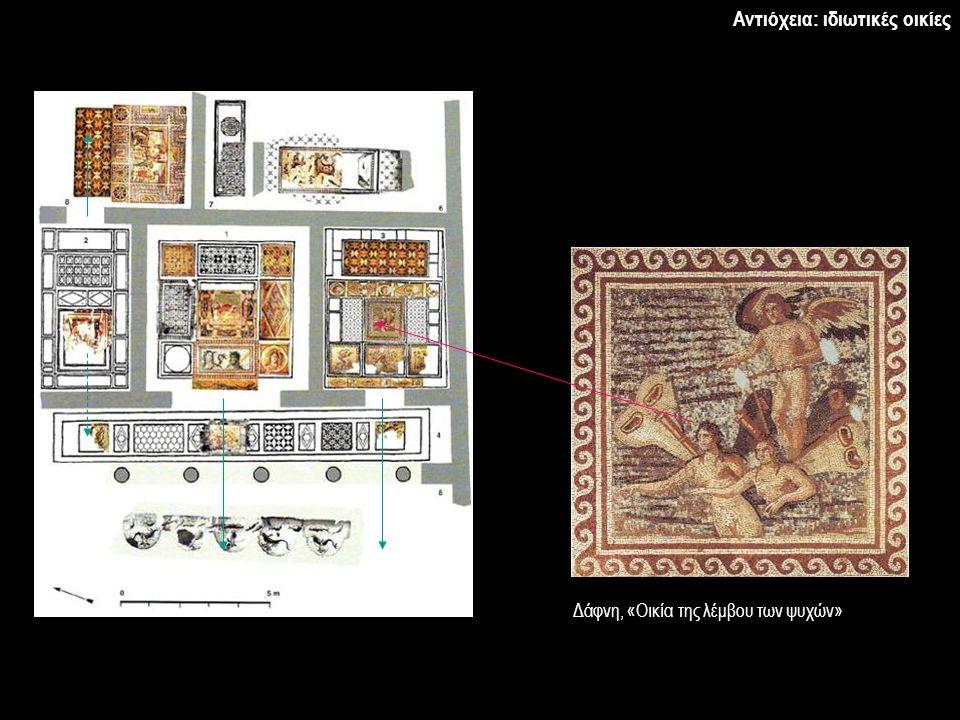 Δάφνη, «Οικία της λέμβου των ψυχών» Αντιόχεια: ιδιωτικές οικίες