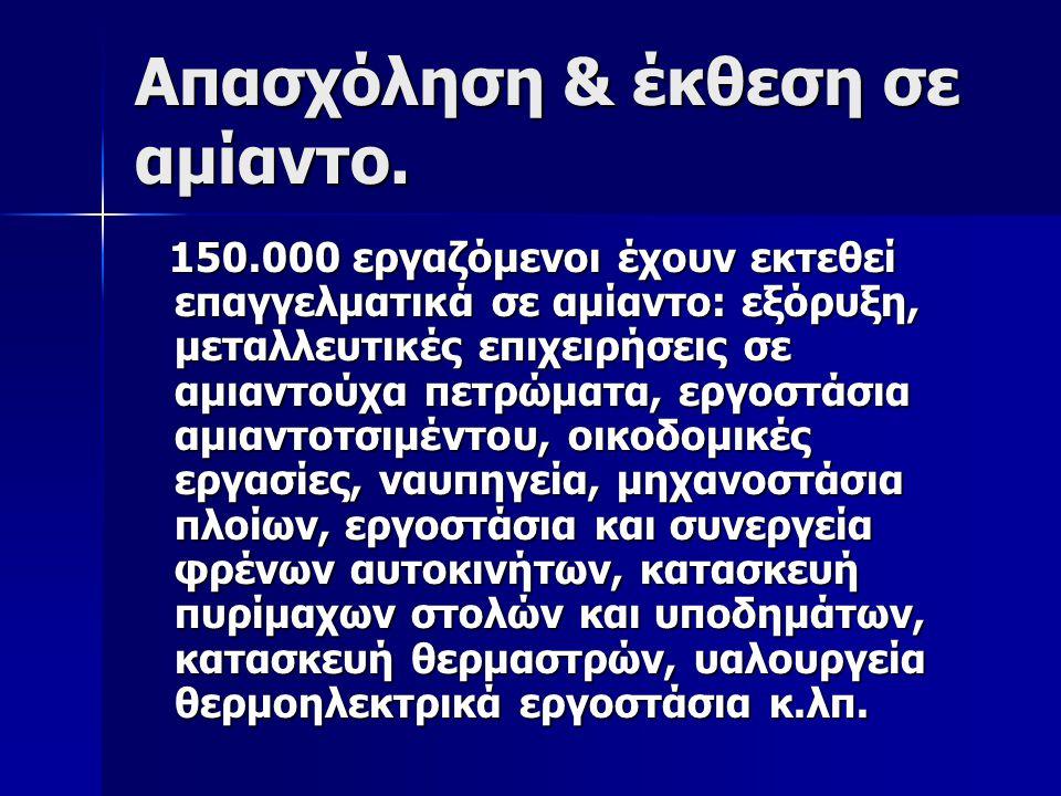 Απασχόληση & έκθεση σε αμίαντο.