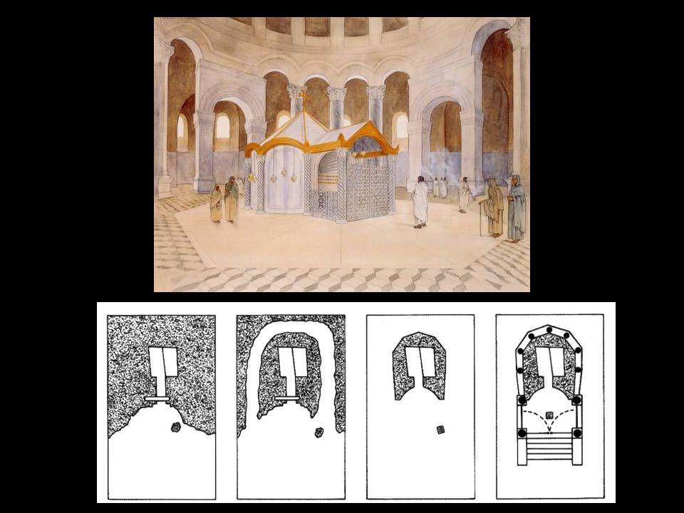 Αγία Σοφία Υποθετική κάτοψη της Αγίας Σοφίας κατά την α' και β' φάση (επί Μεγάλου Κωνσταντίνου και Θεοδοσίου Β')
