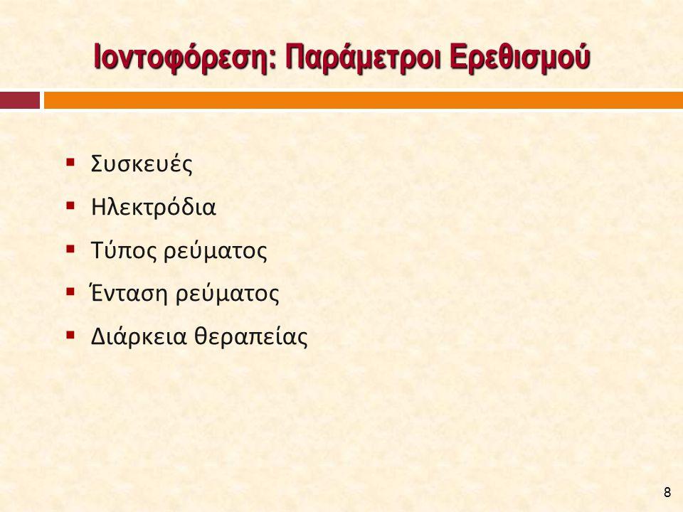 Παρασκευάσματα Αρνητικά Φορτισμένων Ιόντων  Ιώδιο: Αντιφλεγμονώδη και αγγειοδιασταλτική δράση.