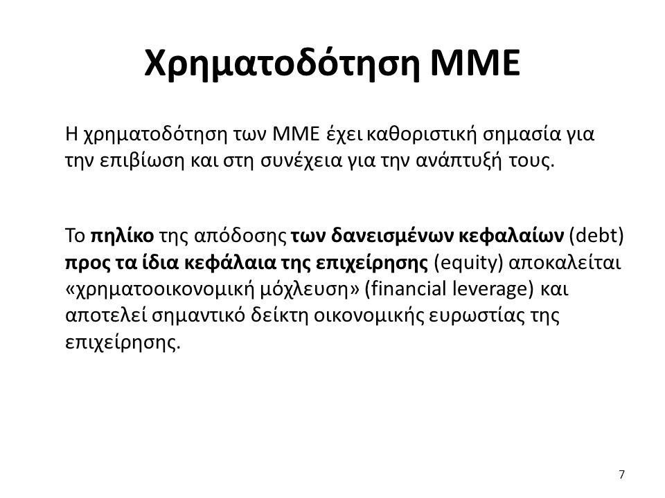 Η χρηματοδότηση των ΜΜΕ έχει καθοριστική σημασία για την επιβίωση και στη συνέχεια για την ανάπτυξή τους.