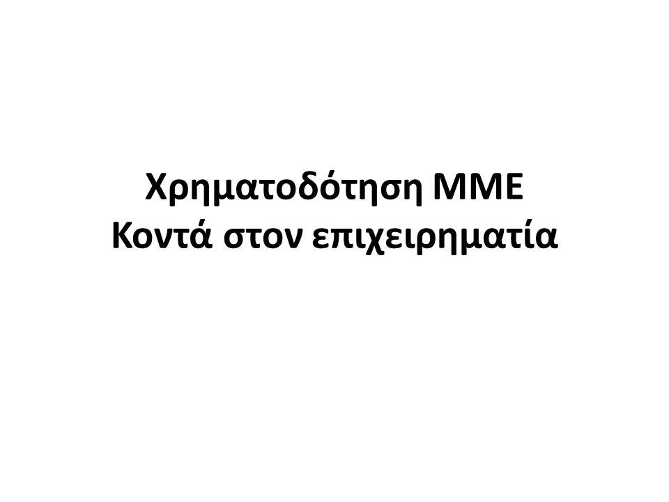 Χρηματοδότηση ΜΜΕ Κοντά στον επιχειρηματία
