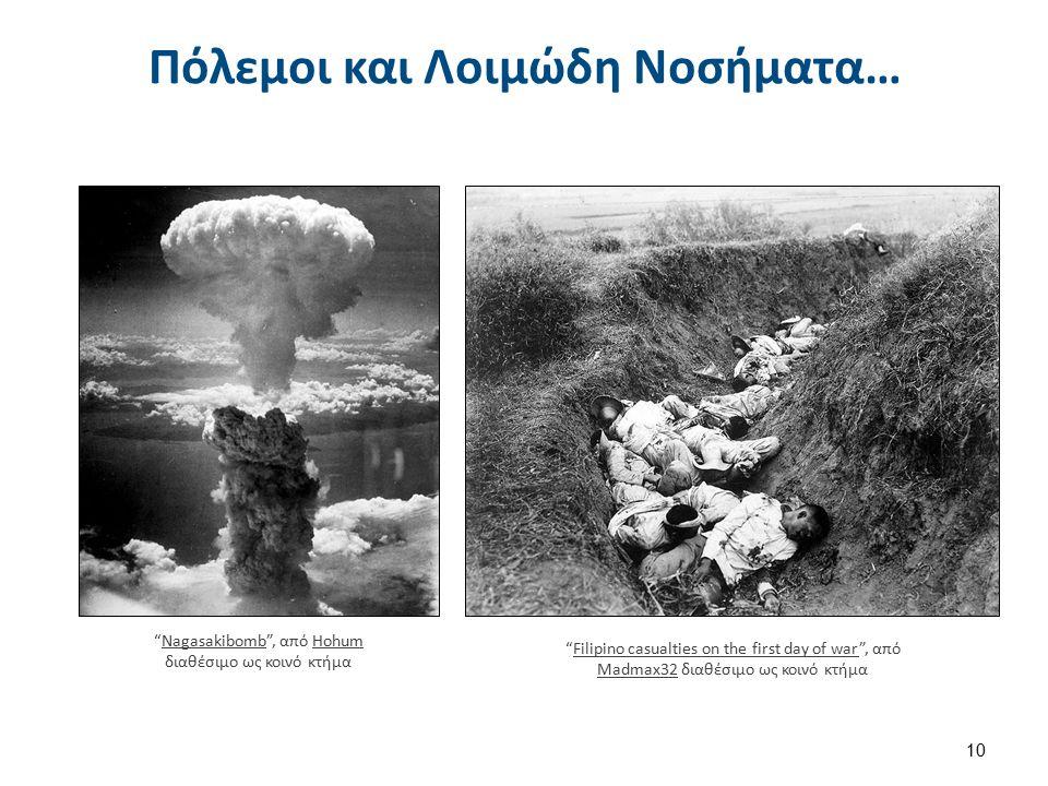 """Πόλεμοι και Λοιμώδη Νοσήματα… 10 """"Nagasakibomb"""", από Hohum διαθέσιμο ως κοινό κτήμαNagasakibombHohum """"Filipino casualties on the first day of war"""", απ"""