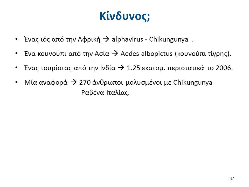 Κίνδυνος; Ένας ιός από την Αφρική  alphavirus - Chikungunya.