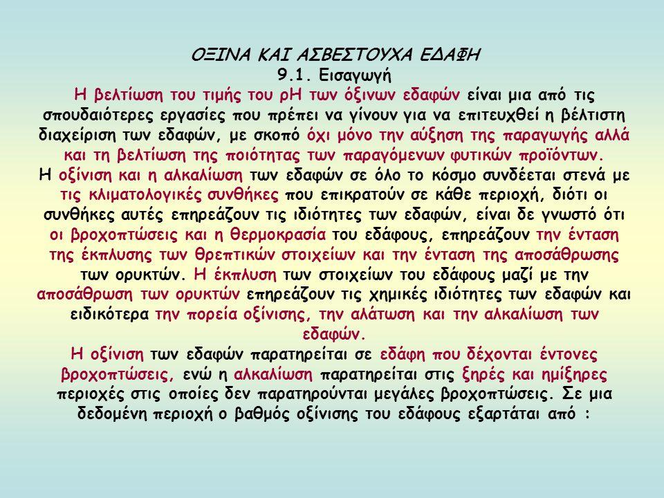 ΟΞΙΝΑ ΚΑΙ ΑΣΒΕΣΤΟΥΧΑ ΕΔΑΦΗ 9.1.