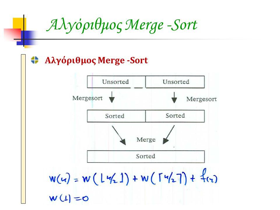 Αλγόριθμος Merge -Sort
