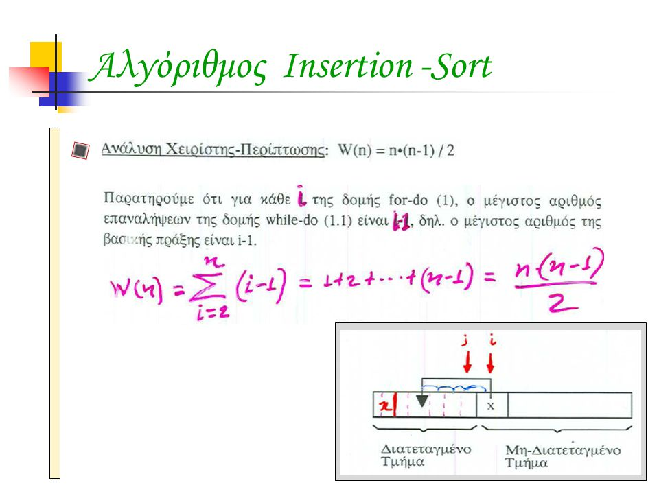 Αλγόριθμος Insertion -Sort