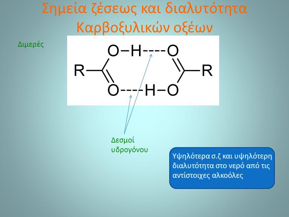 Εστέρες – Παρασκευή εστέρων  Εστεροποίηση Fischer RCO 2 H + R OH RCO 2 R + H 2 O Αμφίδρομη αντίδραση- Αρχή Le Chatelier RCOCl + R OH → RCO 2 R + HCl (RCO) 2 O + R OH → RCO 2 R + RCO 2 H  Αντίδραση ακυλοχλωριδίου ή ανυδρίτη οξέος με αλκοόλη Παραπροϊόν το οξύ Ακετυλοσαλικυλικό οξύ Σαλικυλικό οξύ Οξεικός ανυδρίτης