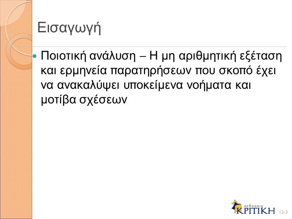 Σύνδεση θεωρίας και ανάλυσης ( Ι ) Ανακάλυψη μοτίβων 1.