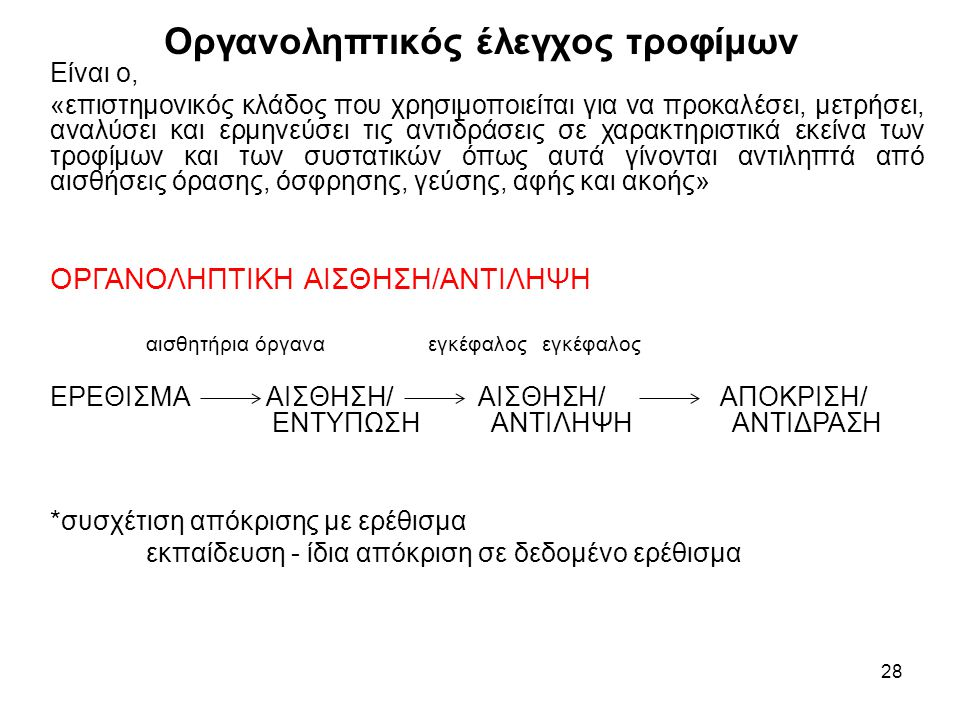 28 Είναι ο, «επιστημονικός κλάδος που χρησιμοποιείται για να προκαλέσει, μετρήσει, αναλύσει και ερμηνεύσει τις αντιδράσεις σε χαρακτηριστικά εκείνα τω