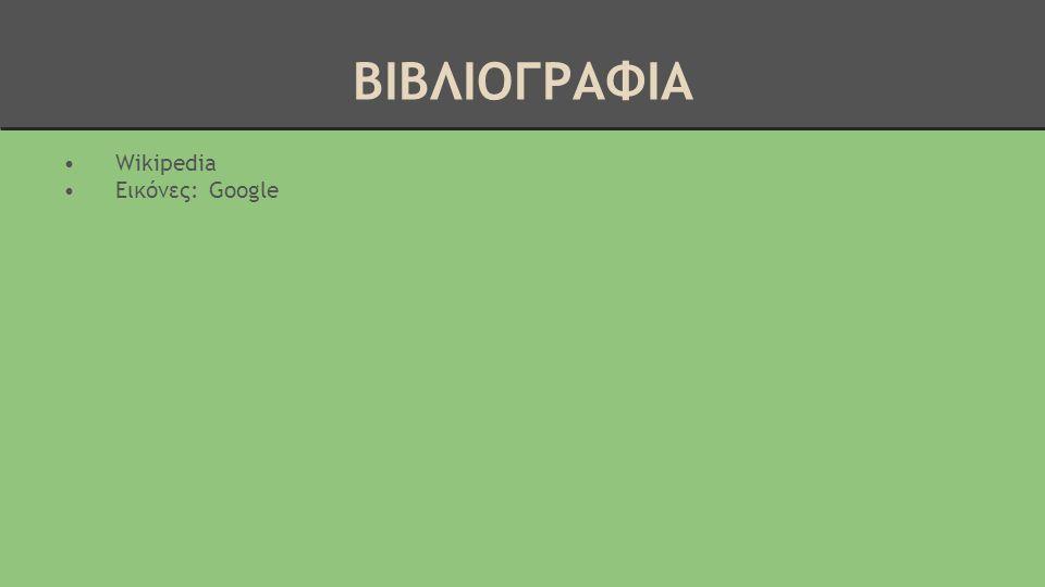 ΒΙΒΛΙΟΓΡΑΦΙΑ Wikipedia Εικόνες: Google