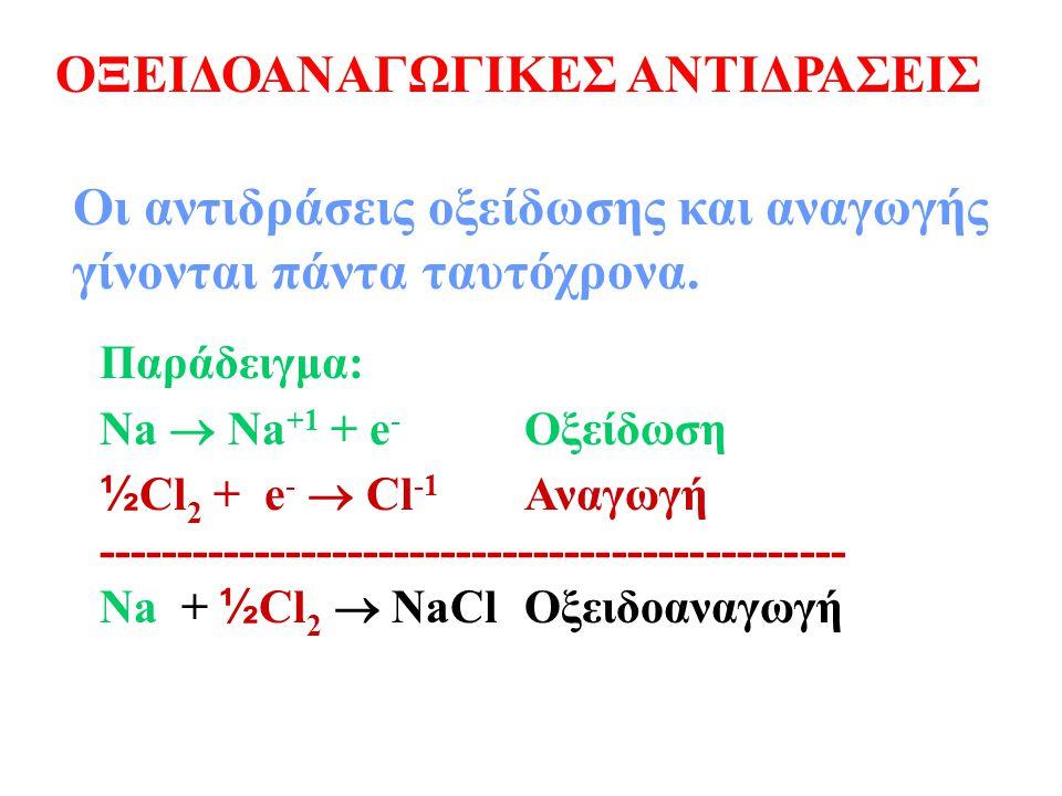 Αναγωγή έχουμε όταν ένα μόριο: Ένα μόριο το οποίο ανάγεται προκαλεί την οξείδωση κάποιου άλλου μορίου, δηλαδή είναι οξειδωτικός παράγων.