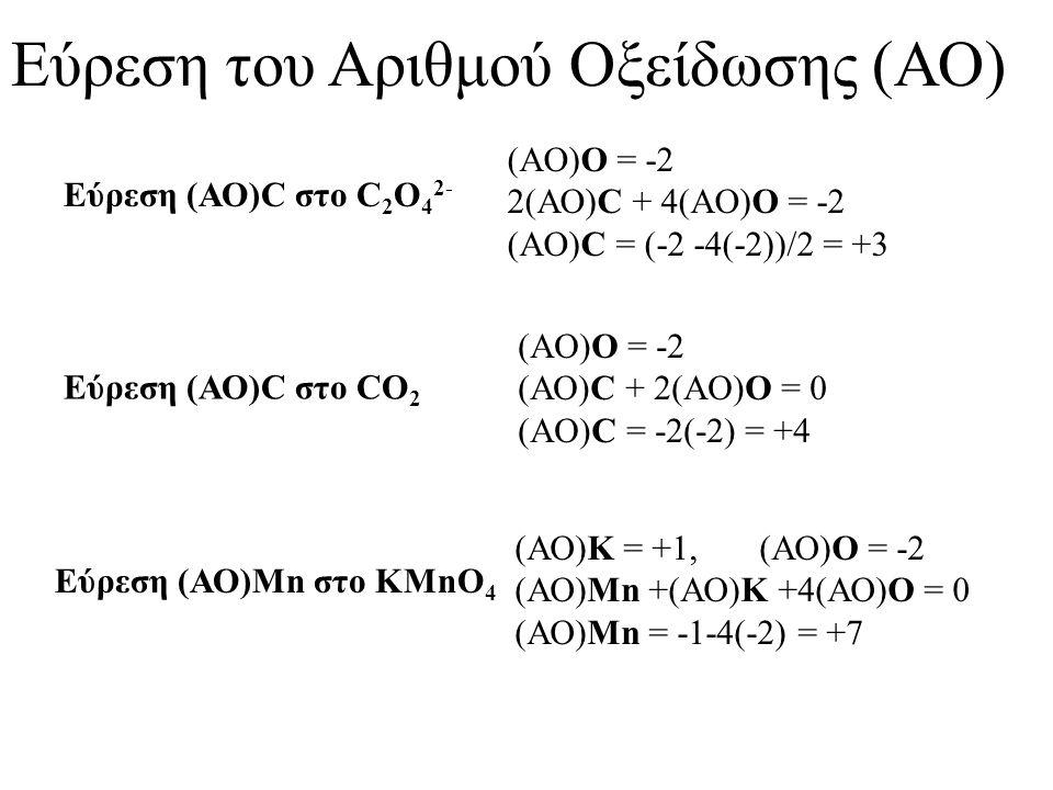 Διάλυμα KMnO 4 Το υδατικό διάλυμα του KMnO 4, αμέσως μετά από την παρασκευή του αποσυντίθεται σύμφωνα με την αντίδραση: 4MnO 4 - (aq) +2H 2 O(l)  4MnO 2 (s) +3O 2 (g) +4OH - (aq) Προκειμένου να προσδιορίσουμε με ακρίβεια την συγκέντρωση του διαλύματος του KMnO 4 κάνουμε τιτλοδότηση με πρότυπο διάλυμα (C 2 O 4 ) -2.