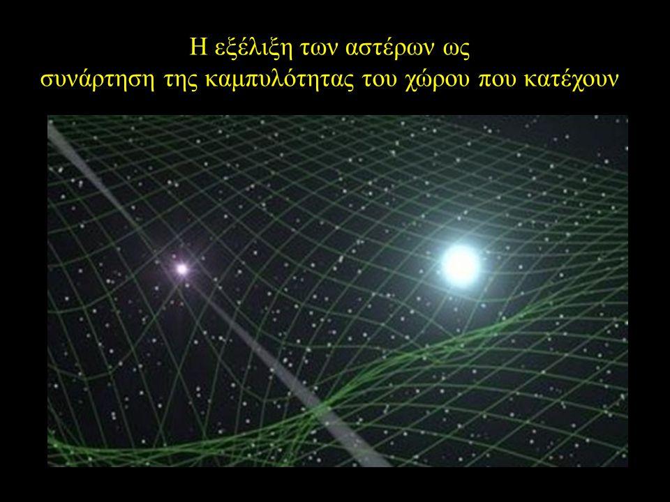 Η εξέλιξη των αστέρων ως συνάρτηση της καμπυλότητας του χώρου που κατέχουν