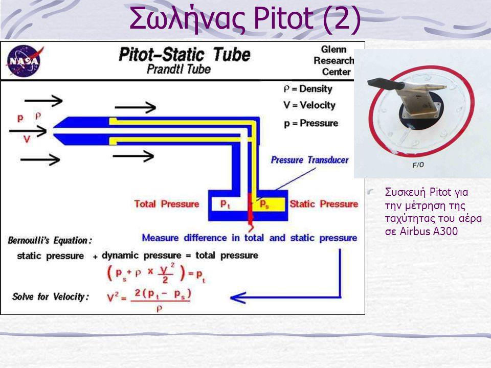 Σωλήνας Pitot (2) Συσκευή Pitot για την μέτρηση της ταχύτητας του αέρα σε Airbus A300