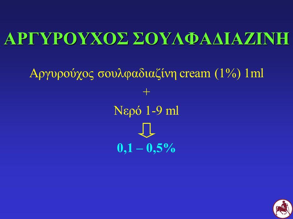 ΙΔΙΑΙΤΕΡΟΤΗΤΕΣ Ανθεκτικά στελέχη Απενεργοποίηση από πύο Απενεργοποίηση σε όξινο pH + συστηματικη χορήγηση Αμινογλυκοσίδες Φθοριοκινολόνες Αμινογλυκοσίδες Φθοριοκινολόνες Πολιμυξίνη B Αργ.