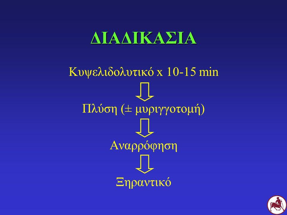 ΠΛΥΣΗ ΥΓΡΟ NS Χλωρεξιδίνη (0,05%) Ιωδιούχος ποβιδόνη Οξικό οξύ Tris-EDTA ΥΛΙΚΑ Σύριγγες 10 ml Μαλακός καθετήρας