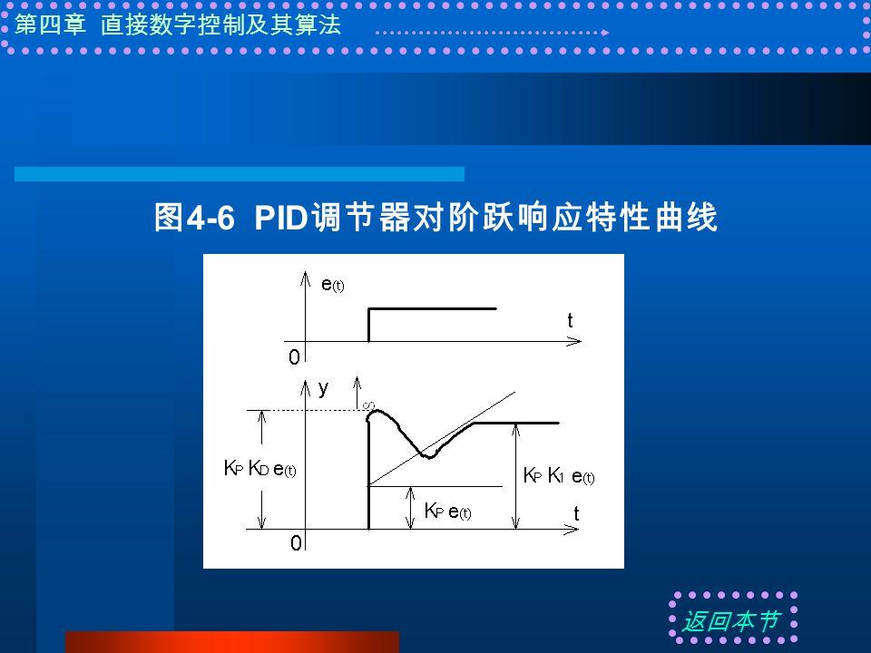 第四章 直接数字控制及其算法 图 4-6 PID 调节器对阶跃响应特性曲线 返回本节