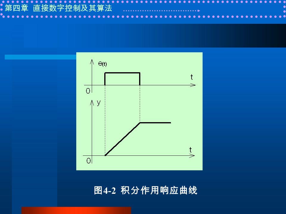 第四章 直接数字控制及其算法 图 4-2 积分作用响应曲线