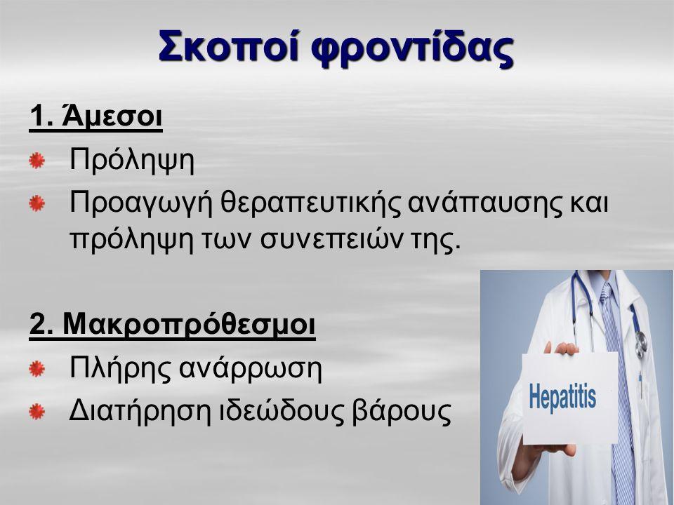 Σκοποί φροντίδας 1. Άμεσοι Πρόληψη Προαγωγή θεραπευτικής ανάπαυσης και πρόληψη των συνεπειών της. 2. Μακροπρόθεσμοι Πλήρης ανάρρωση Διατήρηση ιδεώδους