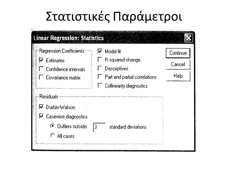 Στατιστικές Παράμετροι