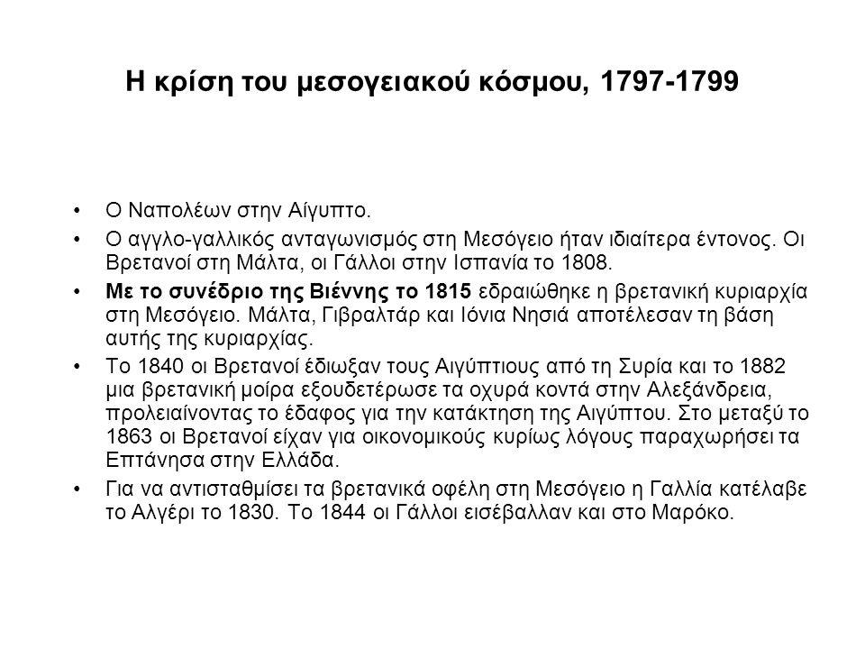 Η κρίση του μεσογειακού κόσμου, 1797-1799 Ο Ναπολέων στην Αίγυπτο.