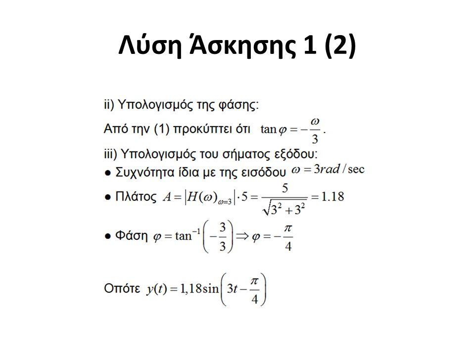 Λύση Άσκησης 1 (2)