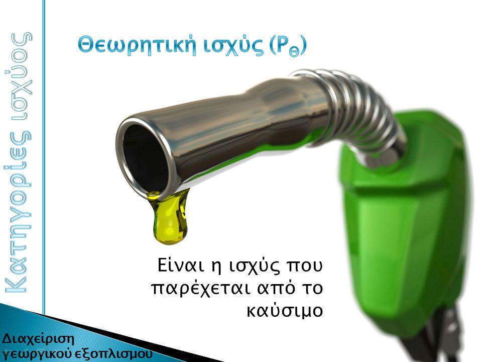 Είναι η ισχύς που παρέχεται από το καύσιμο