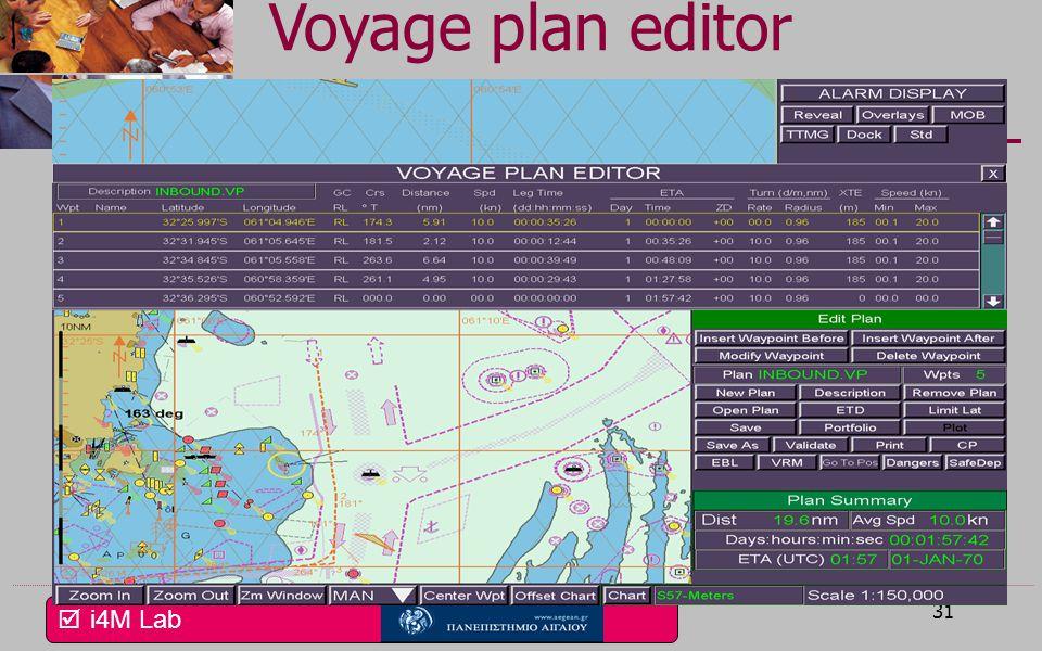  i4M Lab 30 Navigation screen